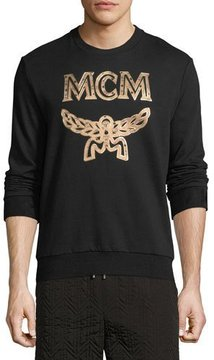 MCM Metallic Visetos Logo Sweatshirt