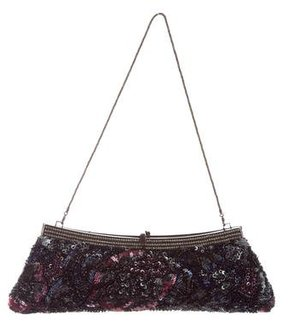 Badgley Mischka Sequin & Beaded Frame Evening Bag