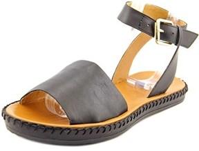 Corso Como Brinkley Women Open-toe Leather Black Slingback Sandal.