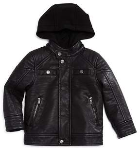 Urban Republic Boys' Hooded Faux-Leather Jacket - Little Kid