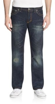 Affliction Ace Avenge Distressed Straight-Leg Jeans
