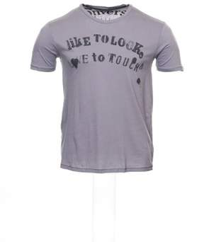 Converse Men's Light Purple Graphic T-Shirt