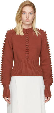 Chloé Red Pom Pom Sweater