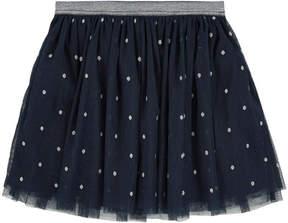 3 Pommes Sequined tulle skirt