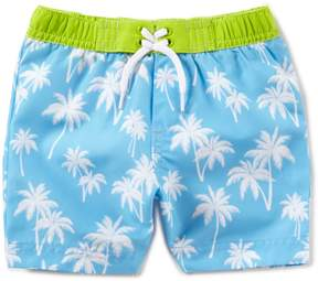 Little Me Baby Boys 6-24 Months Palm-Tree-Printed Swim Trunks