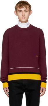 Calvin Klein Burgundy Colorblock Sweater