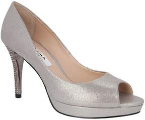 Nina Fiesta Suede Crystal Covered Heel Pumps