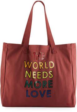 Peace Love World Oversized Logo Tote Bag