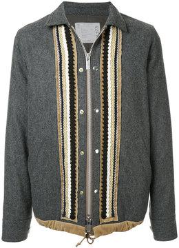 Sacai zipped military jacket