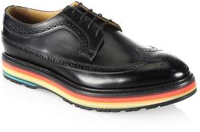 Paul Smith Men's Grand Wingtip Leather Oxfords