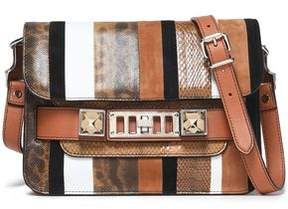Proenza Schouler Ps11 Paneled Karung Ayers And Leather Shoulder Bag