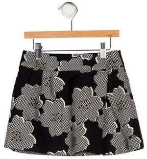 Lili Gaufrette Girls' Floral Skirt