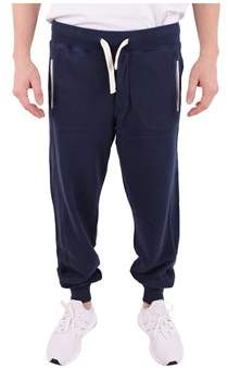 Sun 68 Men's Blue Cotton Joggers.