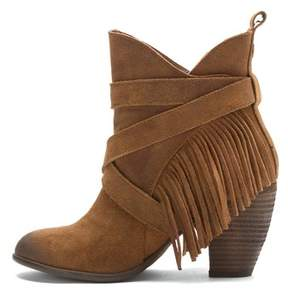 Naughty Monkey Womens Wild Wink Leather Almond Toe Ankle Fashion Boots.