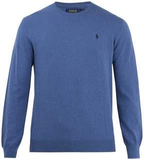 Polo Ralph Lauren Crew-neck logo-embroidered cotton sweater