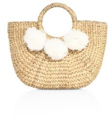 JADEtribe Mini Pom-Pom Basket Tote