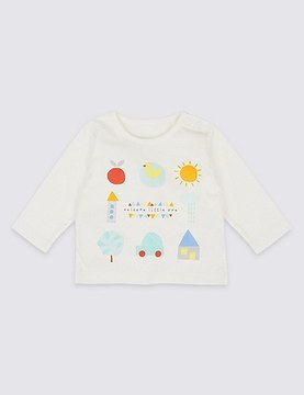 Marks and Spencer Welome Little One Pure Cotton Top