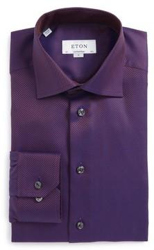 Eton Men's Contemporary Fit Stripe Dress Shirt