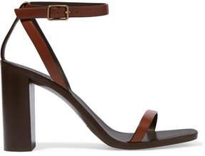 Saint Laurent Loulou Leather Sandals - Brown