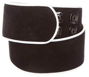 Dolce & Gabbana Suede Leather-Trimmed Waist Belt
