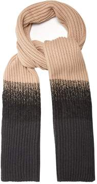 Brunello Cucinelli Contrast-panel cashmere scarf