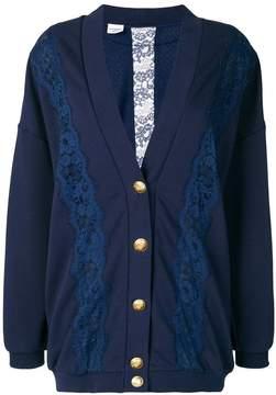 Pinko lace insert mid-length cardigan
