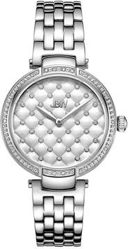 JBW 18 Diamonds At .18ctw Womens Silver Tone Bracelet Watch-J6356c