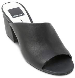 Dolce Vita Women's Juels Leather Block Heel Slide Sandals