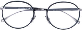HUGO BOSS thin round frame glasses