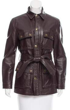 Belstaff Zip-Up Leather Jacket