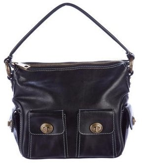 Marc Jacobs Leather Blake Hobo - BLACK - STYLE