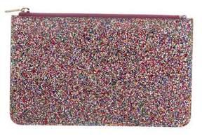 Edie Parker Glitter Folio Pouch