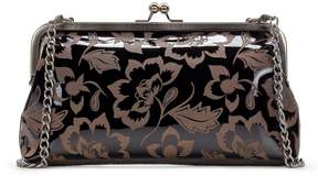 Patricia Nash Patent Etched Floral Collection Potenaz Frame Clutch