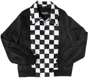 DSQUARED2 Checkered Nylon Bomber Jacket