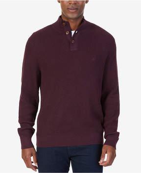 Nautica Men's Buttoned Shawl-Collar Sweater