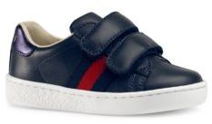 Gucci Toddler's & Kid's Web-Trim Leather Sneakers