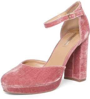 Dorothy Perkins Blush Velvet 'Gabrielle' Court Shoes