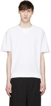 Jil Sander White Short Sleeve Pullover