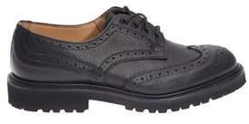 Tricker's Men's Black Leather Lace-up Shoes.