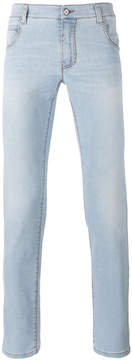 Ermanno Scervino bleached effect slim-fit jeans