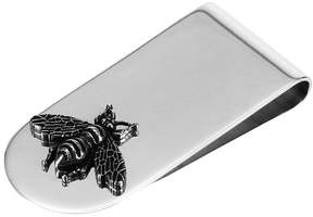 Gucci Wallet Silver Bee Moneyclip With Aureco Finishing
