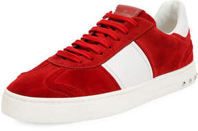 Valentino Men's Fly Suede Low-Top Sneakers