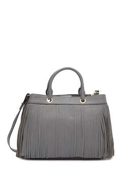 Milly Essex Leather Fringe Tote Bag