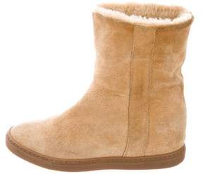 Common Projects Woman by Suede Wedge Ankle Boots