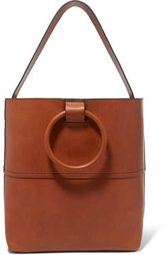 Theory Hoop Leather Tote - Tan
