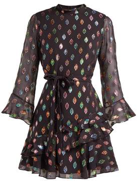 Saloni – Marissa Metallic Silk Blend Dress
