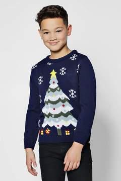 boohoo Boys Christmas Tree Jumper