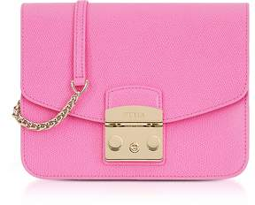 Furla Orchid Leather Metropolis Small Crossbody