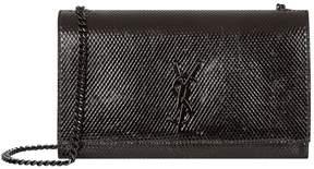 Saint Laurent Medium Kate Embossed Monogram Python Bag - BLACK - STYLE