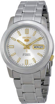 Seiko 5 Silver Stainless Steel Automatic Men's Watch